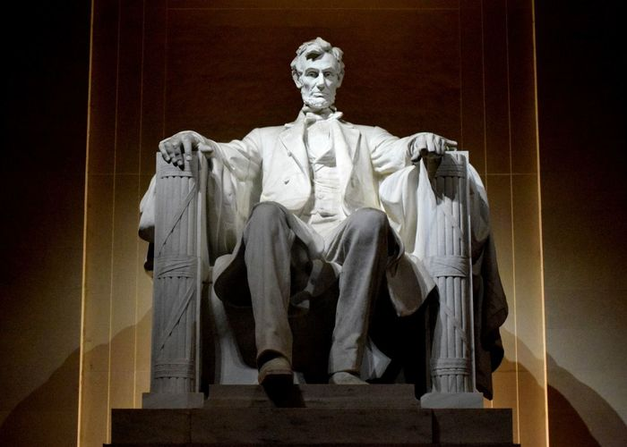 Mr Lincoln himself at his memorial Architecture History Human Representation Memorial Monument President Sculpture Statue