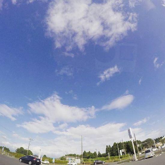 Japan Miyazaki Miyakonojo Helloworld Sky Skylovers Beautiful Sunny Blue My First Gopro Photo 😚 Yeah
