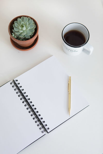 Coffee Desk Memories Plants Work Working Writing Abstract Minimalism Monsteria Simple Simplicity Stationary Summer Template White Background Workspace