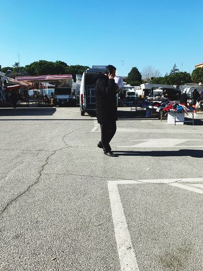 market Streetphotography One Person Nature Transportation Sunlight Sky Day Real People City Street Road Men Clear Sky Lifestyles