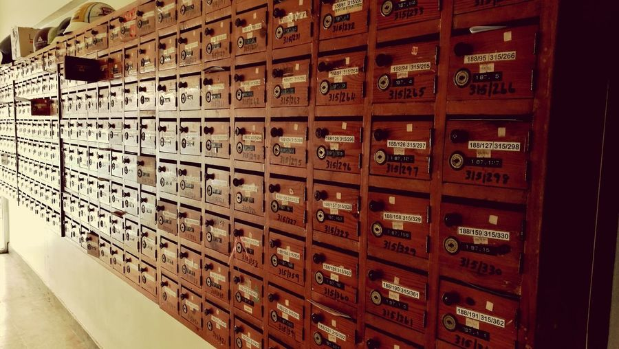 Mailboxes in room