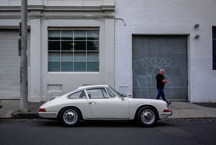 Porche 912 at Brunswick Street 912 Melbourne, Australia Porche Wheel Architecture Brunswick Building Exterior Built Structure Car Day Full Length Land Vehicle Melbourne Men Mode Of Transport Old Car One Person Outdoors People Real People Standing Streetphotography Transportation White
