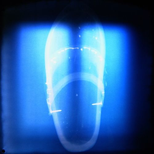 Close-up of illuminated blue light