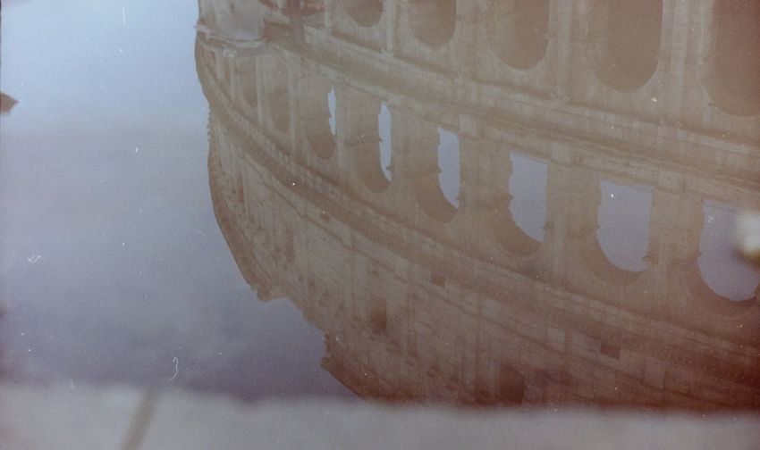 Colosseo Colosseum Puddle Puddle Reflections Film Photography Monuments Touristic Destination Tourist Attraction  Ruins Archeology Mirror Sky Water Close-up Sky My Best Photo