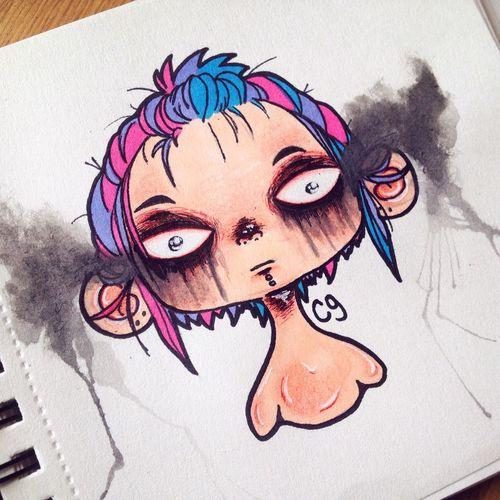 Sketch Creepy Art Drawing Doodle Cute Cartoon