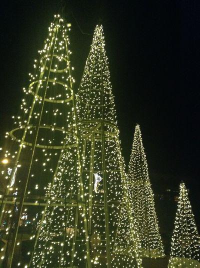 Decoration Décoration De Noël Lumière Nuit Noire