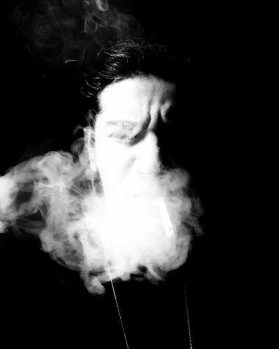 Black Background Blackandwhite Smoke Portrait Studio Shot Smoking - Activity Smoke - Physical Structure One Person Amazing