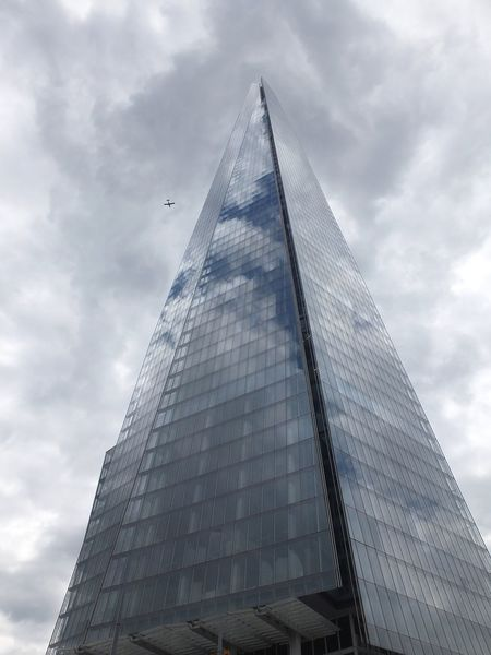 The Shard Areoplane Building Exterior Built Structure City Cloudy Sky Composition Futuristic GB Glass Building London Low Angle View Modern Architecture Modern Building No People Outdoor Photography Plane Flying Past Reflections In The Glass Shard Skyscraper Tall - High The Architect - 2017 EyeEm Awards Uk