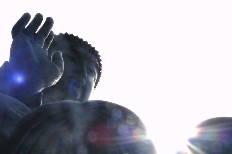 Nongping360 Hongkong HongKong Big Buddha Big Buddha Hongkong Flare Light Silhouette Bless Pray Goodluck Lucky Tourism Travel Buddhism Hope Faith