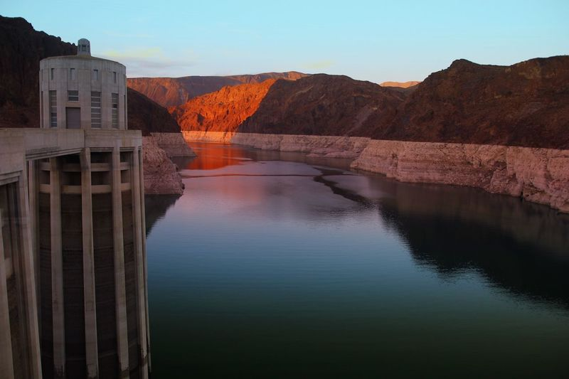 Hoover Dam Arizona USA Landscapes Dusk