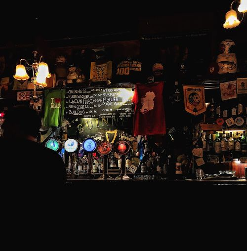 atmosphere Ireland Guinness Colours Irish Pub Irish Pub Beer Night Illuminated Architecture Built Structure City Lighting Equipment Indoors  Multi Colored Dark