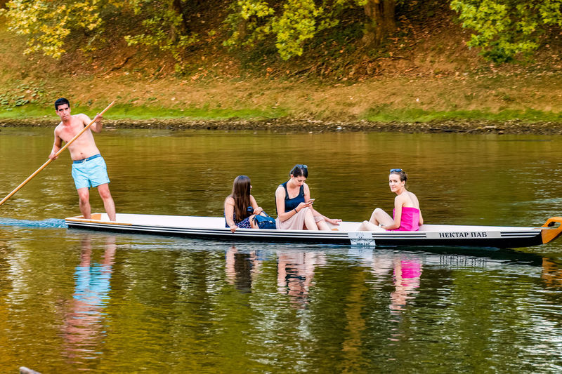 Vrbas Banjaluka Day Females Leisure Activity Nature Outdoors Real People Reflection River Summer Sunlight Water Women Young Adult
