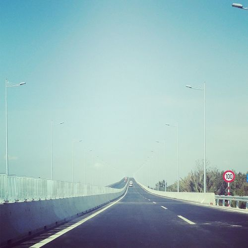 Day High Way Highway No People Outdoors Road Road Sign Sky Sky And Clouds Speed Street Light The Way Forward Transportation