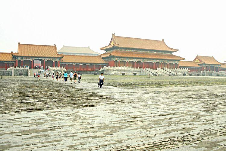 Forbidden city Forbidden Palace Beijing China City Chinese Architecture Landmark People Visit