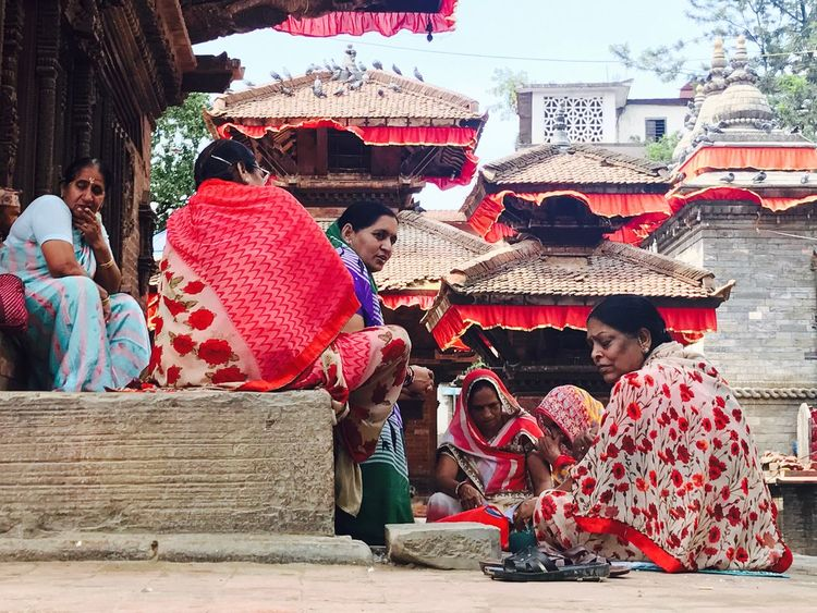 Woman in Nepal No Filter Women Outdoors Cultures Real People Sitting Sacred Places Traditional Clothing Traditional Culture Kathmandu
