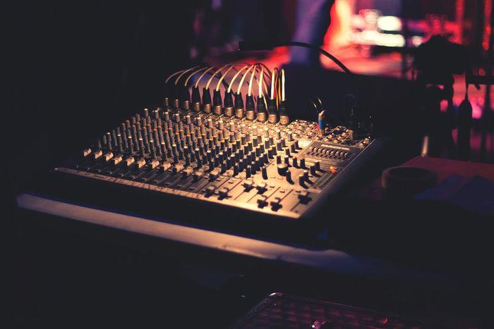 Mixing board. Electronic Music