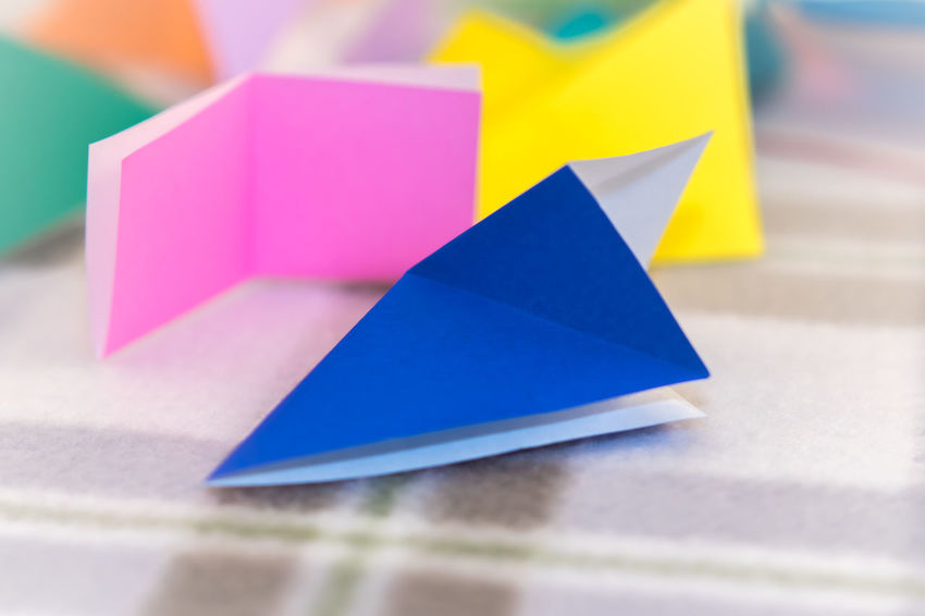 Childhood Close-up Creative Day Indoors  Makeing Multi Colored Ninja No People Origami Paper Table Toy