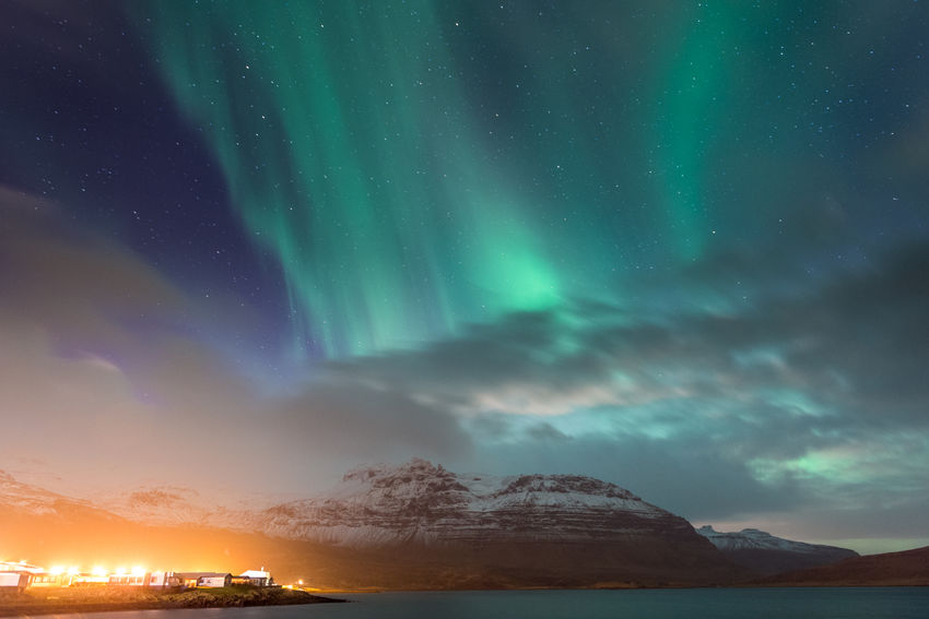 Astronomy Aurora Aurora Borealis Aurora Chasing Beauty In Nature Cloud Dramatic Sky Exploring Grundarfjordur Grundarfjörður Iceland Iceland_collection Illuminated Landscape Nature Night No People Power In Nature Scenics Sky Space Star - Space Water Weather West Iceland
