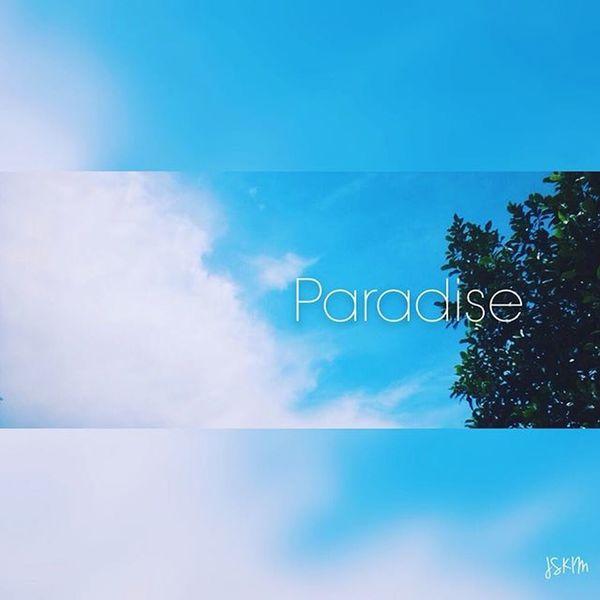 Nice day 😀 Paradise Sky Tree Beautiful Clou Blue Photooftheday Like Love Instagood