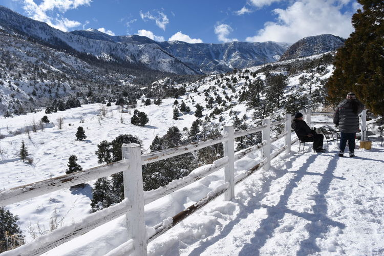 A whole white world, at The Resort on Mt Charleston, 30 minutes north of Las Vegas Beauty In Nature Cold Temperature Day Landscape Las Vegas NV Lee Canyon Mountain Mt Charleston Nature Outdoors People Scenics Snow Travel Travel Destinations Winter