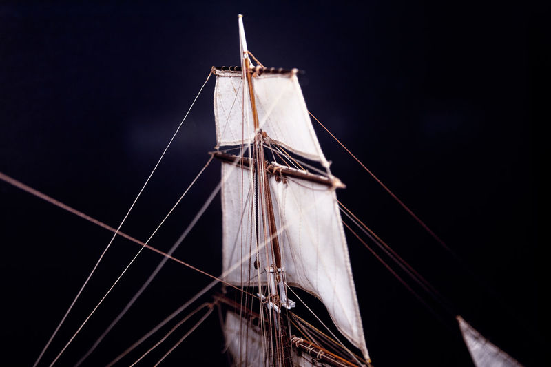 Masts with sails . nautical vessel details