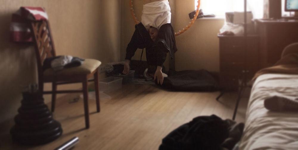 Fun Home Interior Indoors  Men Room Sleeping Smyle Sport Strange, Abstract Upside Down Upsidedown USA USA FLAG Yoga Yoga ॐ Yogyakarta Yogainspiration Yogalove