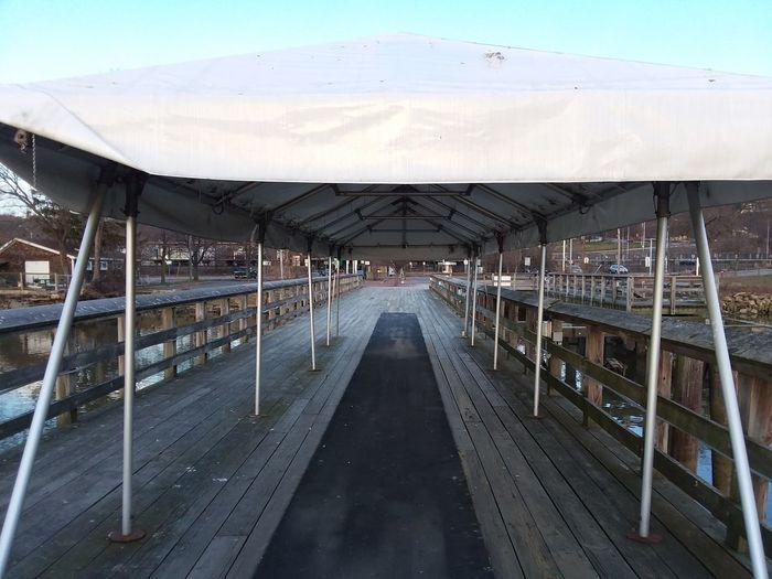 Empty footbridge