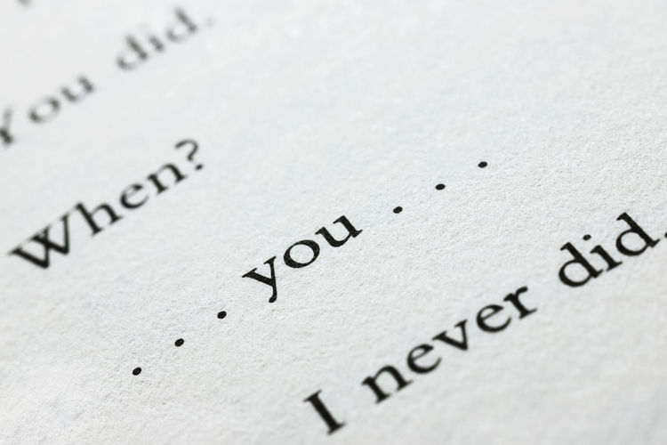 Close-up of text on paper