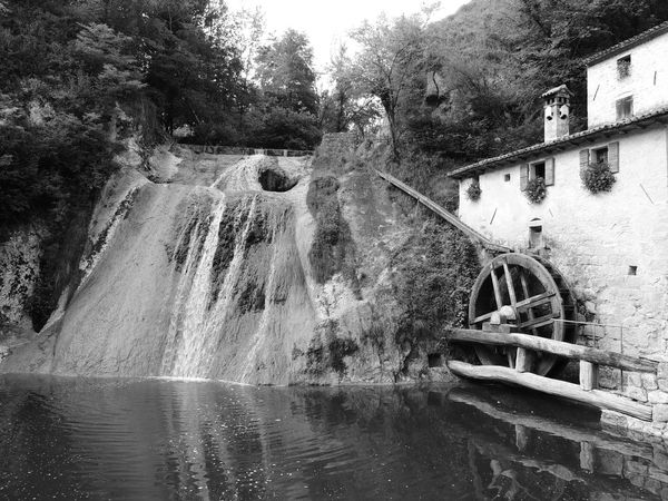 Molinetto Della Croda Architecture Beauty In Nature Day Hydroelectric Power Long Exposure Motion Nature No People Old-fashioned Outdoors River Scenics Tree Water Waterfall Watermill