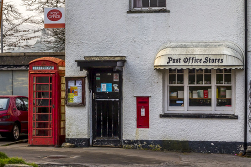 Architecture Dartmoor National Park Office Outdorr Post Office Bridge Telephone Box Winter