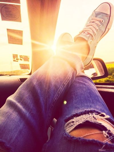 On The Road Roadtrip Country Road Car Sunset Relaxing Taking Photos Enjoying Life Enjoying The Sun Escaping