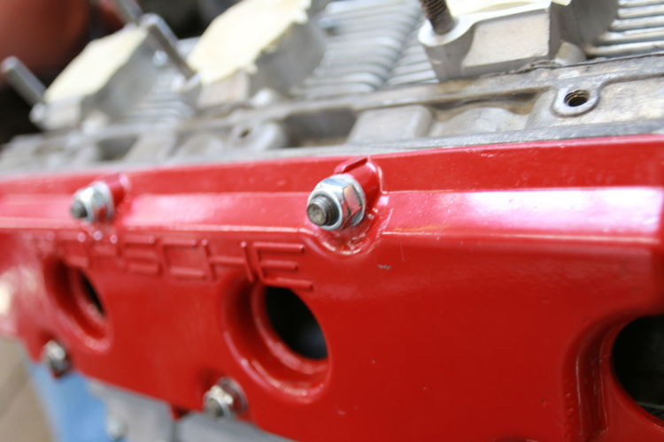 Porsche engine case Close-up Day Machine Shop No People Outdoors Portrait Rebuo Red Valve Cover