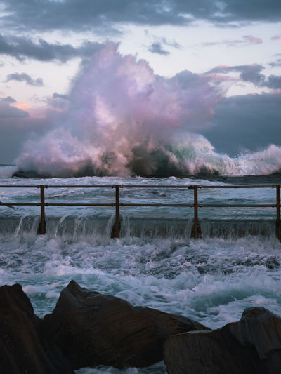 A massive swell hits the east coast of Australia bringing with it powerful waves that closed most beaches Australia Australian Landscape Eye Em Nature Lover Olympus Sydney, Australia Australian Photographers Beauty In Nature Day Motion Nature No People Ocean Outdoors Power In Nature Scenics Sea Sky Sunset Sydney Tranquil Scene Tranquility Water Wave Week On Eyeem The Week On EyeEm Editor's Picks Shades Of Winter Go Higher