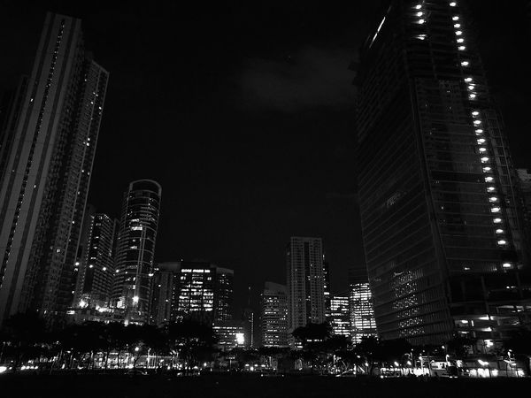 Night Architecture Illuminated Building Exterior City Low Light Night Cityscape Urban Skyline Travel Destinations Built Structure Building Story EyeEmNewHere Eye4photography  EyeEm Mobile Photography Chrome Black Sky EyeEm Best Shots EyeEm Best Shots - Black + White Eyeem Philippines Eye4black&white  EyeEm Best Shots - Landscape Philippines BGC Art Bgcstreet