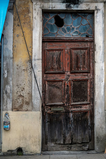 Door Entrance Closed Building Exterior Architecture Day Built Structure No People Wood - Material Building Old Security Abandoned Weathered House Safety Protection Outdoors Front Door Deterioration Dereliction