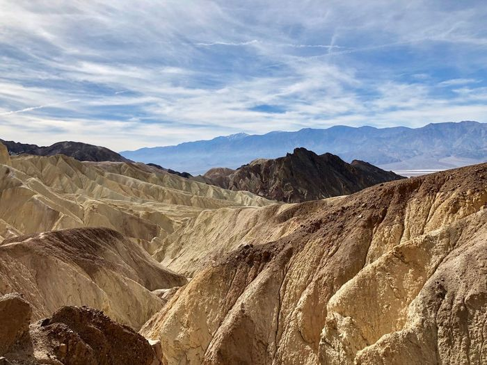 Hiking in Golden Canyon in Death Valley Death Valley Hiking Beauty In Nature Cloud - Sky Day Desert Geology Golden Canyon Landscape Mountain Mountain Range Nature No People Outdoors Physical Geography Rock - Object Scenics Sky Tranquil Scene Tranquility Travel Travel Destinations The Great Outdoors - 2018 EyeEm Awards