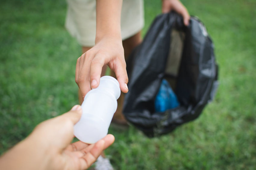Volunteer Binbag Can Child Finger Garbage Human Hand Lifestyles Plastic Save