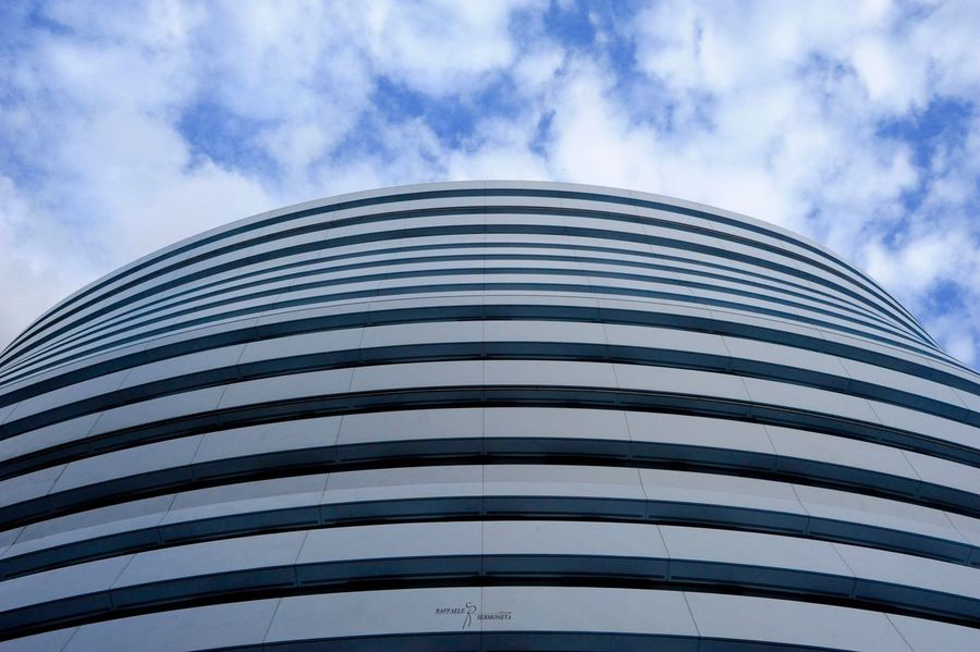 Architecture Sky Built Structure Building Exterior Cloud - Sky Low Angle View Day No People Outdoors Modern City Close-up Summer Nopeople Nikonphotography Nikon London London Lifestyle Postcode Postcards Nikontop Architecture Arts Culture And Entertainment Round And Round The Architect - 2018 EyeEm Awards