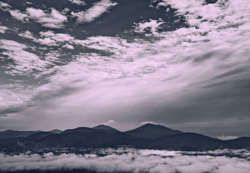 Peak Mountain Beauty In Nature Nature Outdoors Mountain Range Cloud - Sky Sky Tranquil Scene