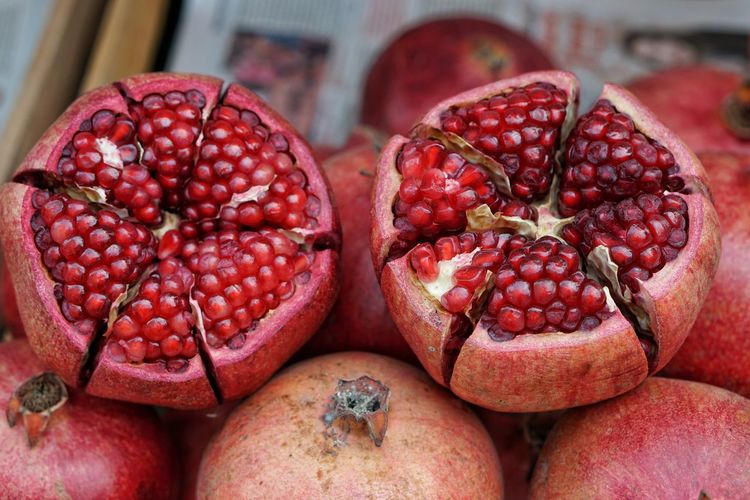 Red Fruit Freshness Healthy Eating Food Close-up No People Day Pomegranate