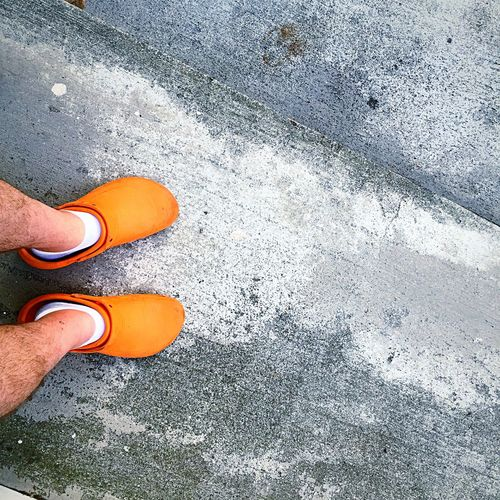 Crocs Crocs With Socks Orange Crocs Sidewalk Open Edit Owning It