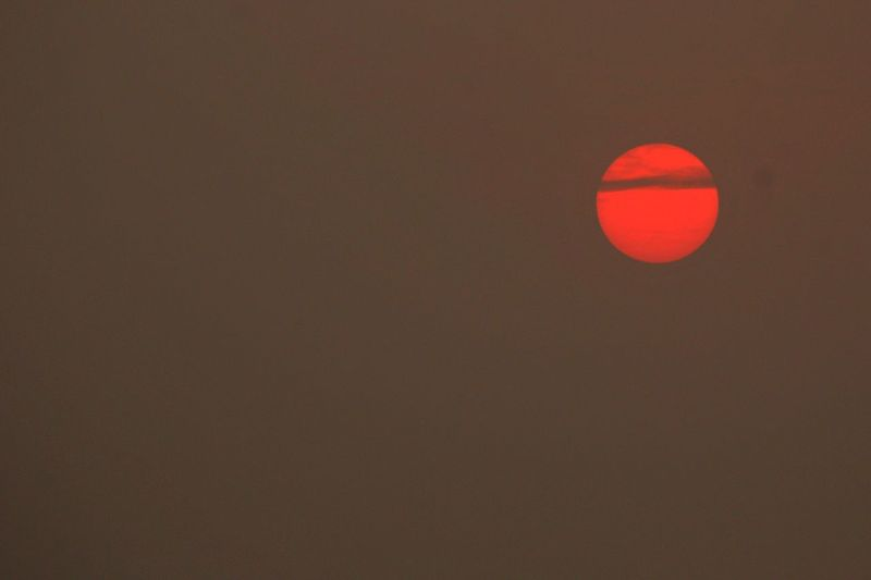 Art Is Everywhere Copy Space No People Nature Sunset Beauty In Nature Space Sky Outdoors Close-up Astronomy Day PhotoNepal Orange Color Red