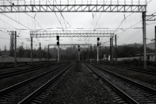 Railroad Track Rail Transportation Transportation Electricity  Sky Day No People Electricity Pylon Outdoors Железная дорога жд пути жд пути рельсы светофоры