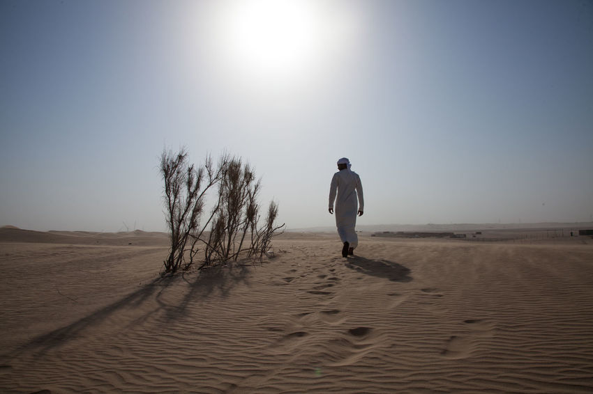 Adult Adults Only Arid Climate Beach Beauty In Nature Clear Sky Day Desert Full Length Landscape Nature One Man Only One Person Only Men Outdoors People Real People Sand Sand Dune Scenics Sky Sunlight Tranquil Scene Tranquility