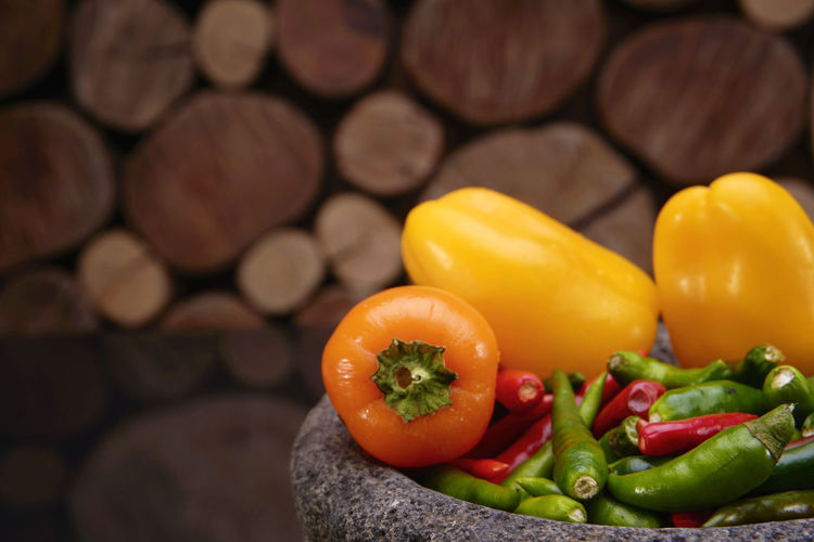 colorful fresh vegetables, tomatoes, capsicum, pepper, chilli red, green and yellow color isolated Bell Pepper Close-up Day Focus On Foreground Food Food And Drink Freshness Healthy Eating Indoors  No People Raw Food Red Bell Pepper Spice Vegetable Yellow