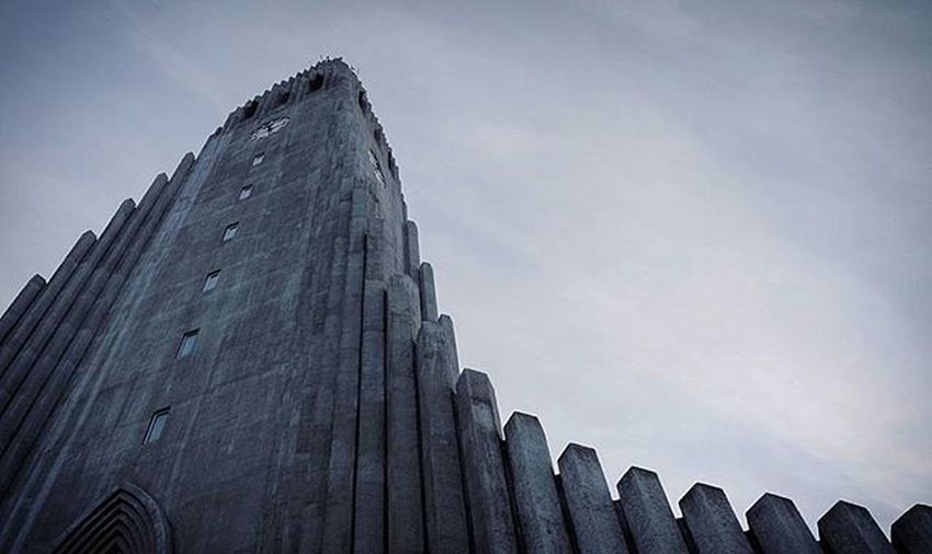 Whileiwasin Iceland Reykjavik I Explore d Hallgrìmskirkja Simple Design And Architecture With Sky Behind Cold Af Cinematography Photo