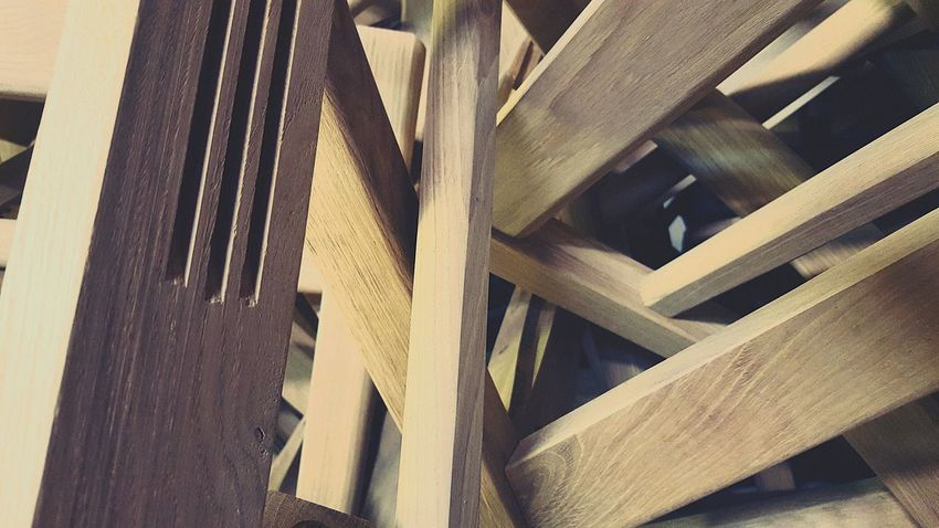 Wood - Material Close-up Backgrounds Pattern Full Frame Carpentry Furniture Details Craftsmanship  Factory Photo Craftsmanship  Manufacturing, Production; Construction Wooden Texture Wooden Piece Indoors  No People