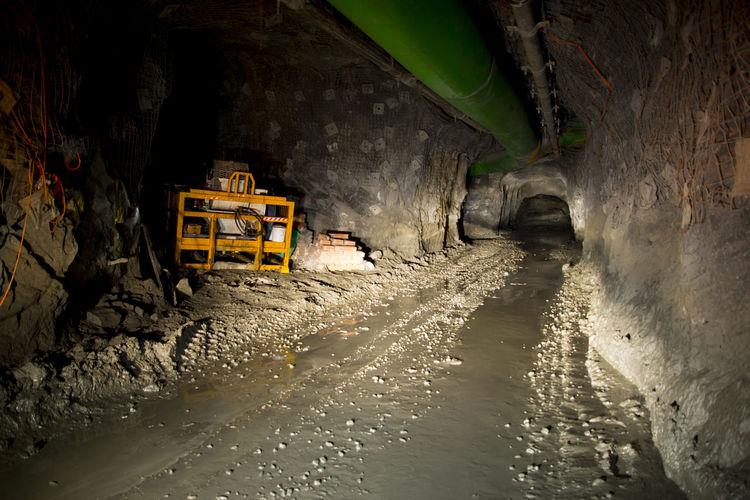 Underground Mining Tunnel Mine Mining Underground Deep Gold
