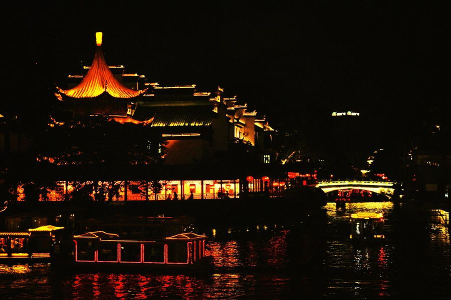 China Traveling In China Nanjing Qinhuai River Chinese Culture History Light And Shadow Night Lights VSCO Cam