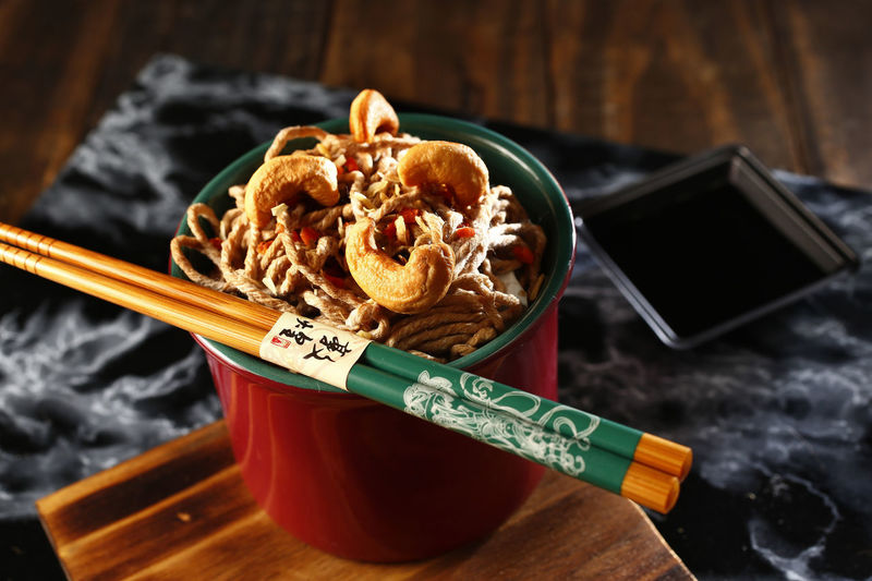 yakisoba Food Food And Drink Close-up No People Indoors  Healthy Eating Freshness Ready-to-eat Still Life High Angle View Table Yakisoba Chopsticks Pasta Italian Food Asian Food Meal Bowl Fried Meat Kitchen Utensil Chinese Food Japanese Food Tray Snack Spaghetti Shoyu